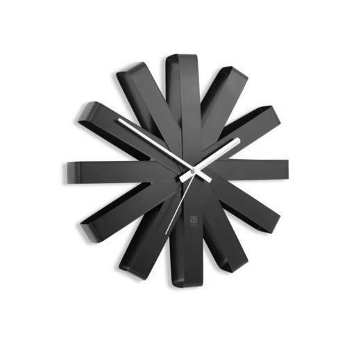 Umbra - Zegar ścienny Ribbon - czarny - czarny
