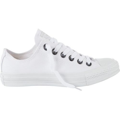 Converse unisex chuck taylor all star ox canvas trainers - white monochrome/silver - uk 11