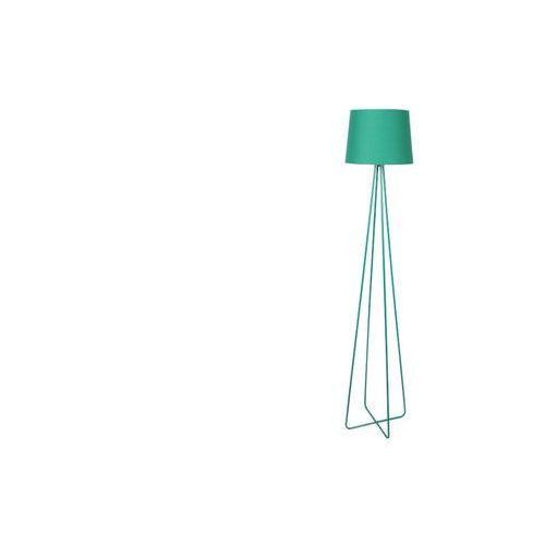 Lampa podłogowa na trójnogu w designerskim stylu coloriage - metal i tkanina - wys. 153 cm - kolor zielony marki Vente-unique