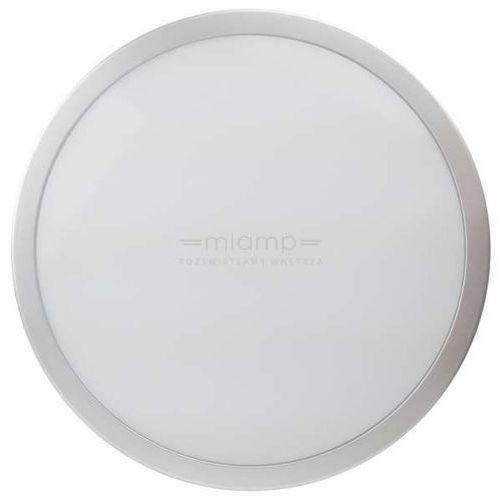 Eko-light Natynkowa lampa sufitowa ek750 okrągła oprawa kinkiet led 24w ścienny ip65 srebrny biały
