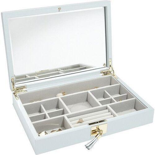 Stackers Szkatułka na biżuterię loves luxury błękitna z pokrywką i lusterkiem (5013648044256)
