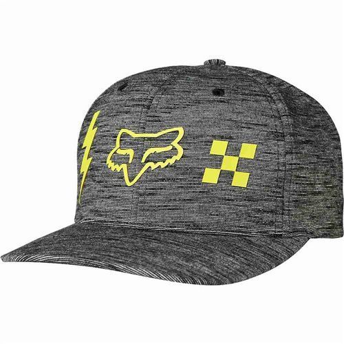 czapka z daszkiem FOX - Striker Check Flexfit Black (001), kolor czarny
