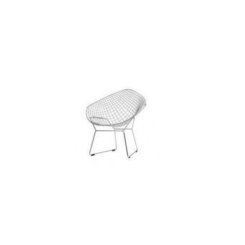 Diament Chair, srebrny, poducha biała lub czarna