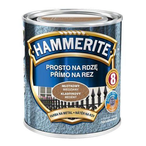 Hammerite Farba prosto na rdzę - efekt młotkowy miedziany 0,25l (5011867039879)