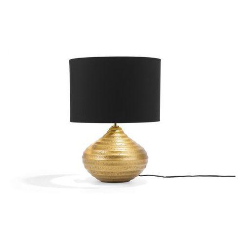 Lampa stołowa złota kuban marki Beliani