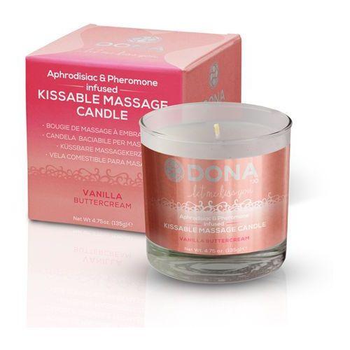 Sexshop - świeca do masażu - azjatycki i lomi lomi - kissable massage candle waniliowa - online marki Dona