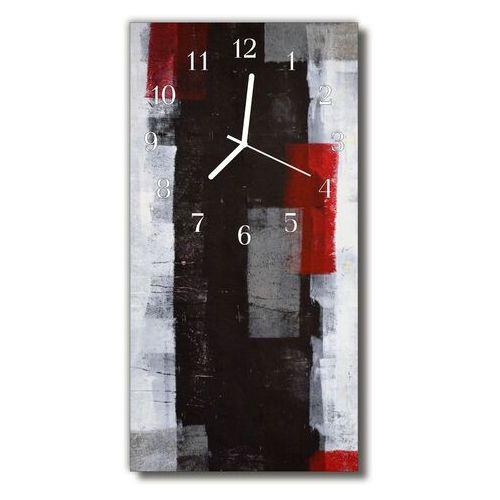 Zegar Szklany Pionowy Sztuka Abstrakcja malowidło kolorowy