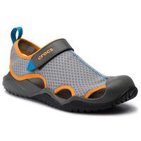 Sandały CROCS - Swiftwater Mesh Deck Sandal M 205289 Light Grey/Blazing Orange, w 3 rozmiarach