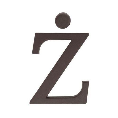 Litera Ż wys. 9 cm PVC brązowa (5901912823488)