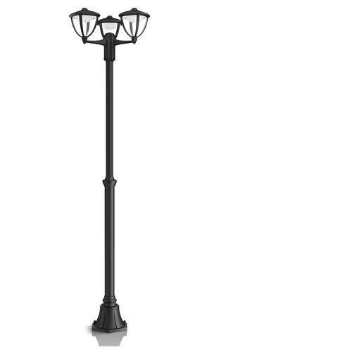 ROBIN - Lampa podłogowa zewnętrzna 3-punktowa LED Czarny Wys.191,7cm
