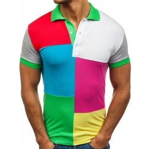 Koszulka polo męska zielona Denley 4037, 23597324019