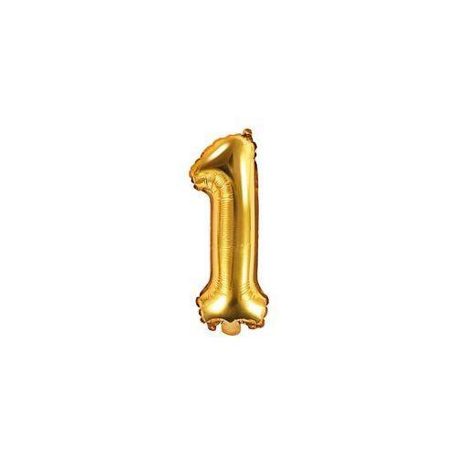 Balon foliowy cyfra 1 złota - 35 cm marki Party deco