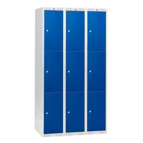 Szafki osobiste 3 sekcje po 3 skrytki w pionie kolor drzwi: niebieski marki Array