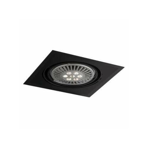 Shilo Wpust lampa sufitowa muko h 3355/gu10/cz podtynkowa oprawa kwadratowa oczko regulowane czarne