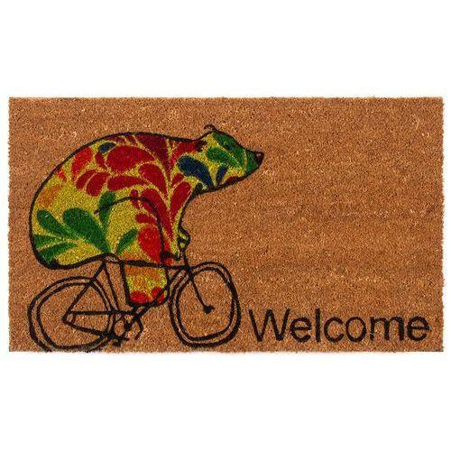 Trade Concept Wycieraczka kokosowa Niedźwiedź na rowerze, 43 x 73 cm