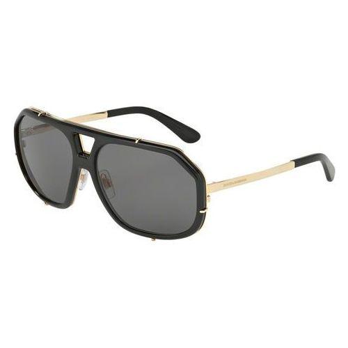 Okulary Słoneczne Dolce & Gabbana DG2167 Polarized 29587, kolor żółty
