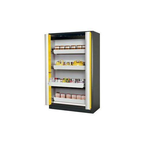 Szafa z drzwiami harmonijkowymi Q-PHOENIX-90,z 4 szufladami