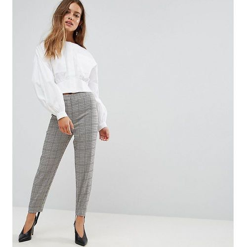 Asos petite tailored heritage houndstooth pant with stirrup - multi