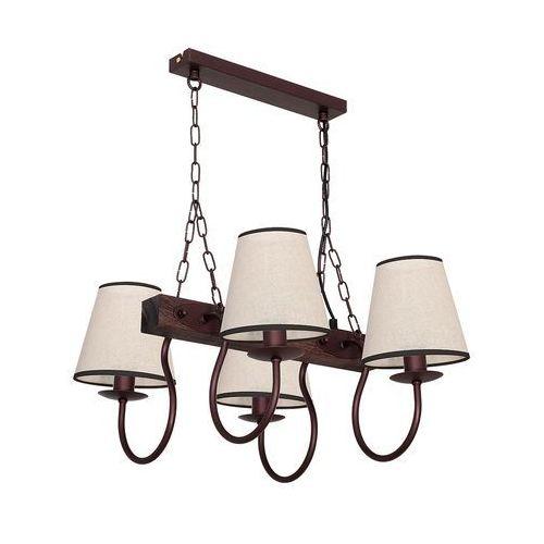 Lampa wisząca Luminex Carin 8694 lampa sufitowa 4x60W E14 brąz / beż, 8694