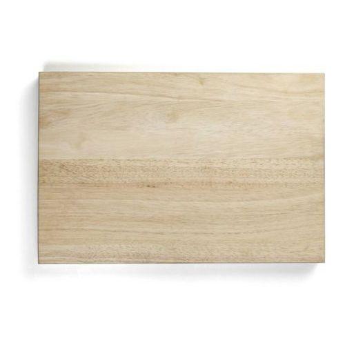 Deska z naturalnego drewna do krojenia, wymiary 45x30x4 cm, exxent 78500 marki Merx team