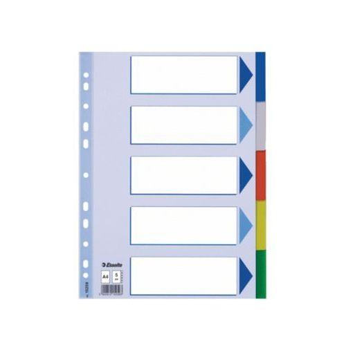przekładki plastikowe z pp a4 5 kart marki Esselte