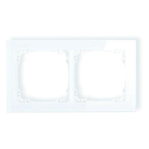 Deco ramka karlik uniwersalna podwójna efekt szkła biała 0-0-drs-2 marki Karlik elektrotechnik