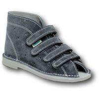 Buty dla dzieci Adamki wzór 012D, kolor popielaty zapinane na 4 rzepy