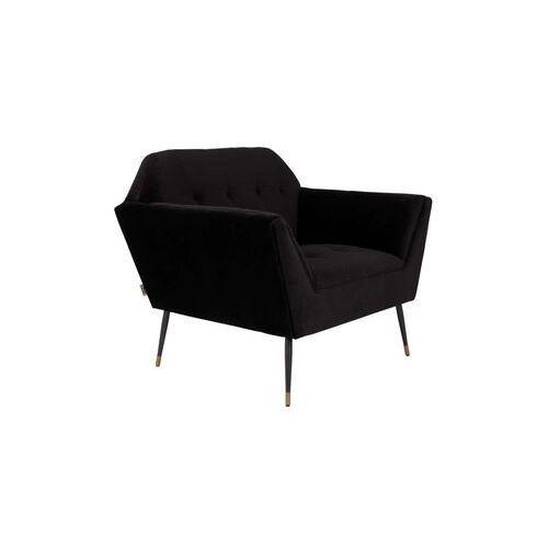 Dutchbone fotel lounge kate czarny 3100062