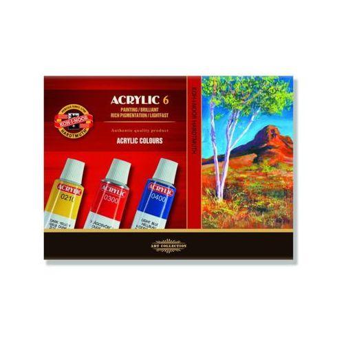 Farby akryl 162701 kpl.6 marki Koh-i-noor