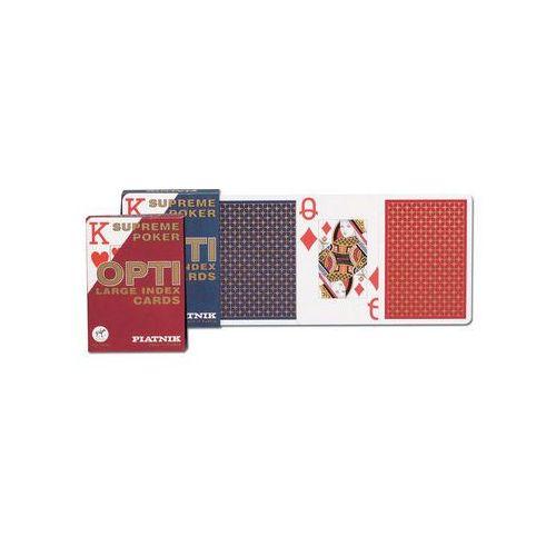 Opti poker - duże indeksy, talia niebieska - karty do gry marki Piatnik