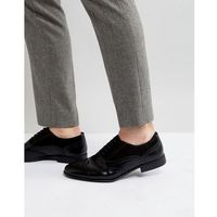 brogue shoes in black faux leather and faux suede detail - black, Asos