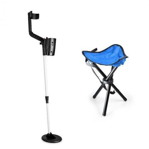 basic blue zestaw do poszukiwania złota | detektor metali + stołek | cewka 16,5 cm marki Duramaxx