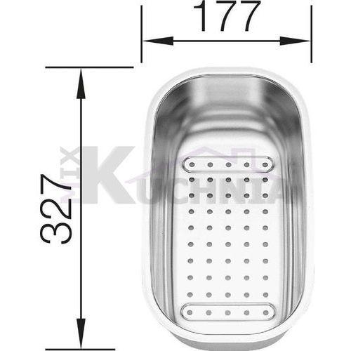 Blanco Odsączarka ze stali szlachetnej 327x177x77mm (208195)