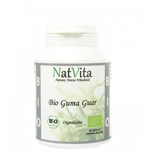 Guma Guar BIO mączka Indie 100g NatVita z kategorii Zdrowa żywność