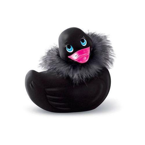 Big teaze toys Kultowa kaczuszka masażer i rub my duckie travel size paris - czarny