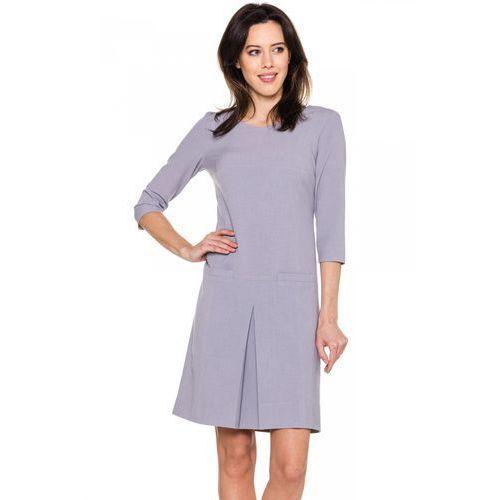 Trapezowa sukienka z kontrą - GaPa Fashion, 1 rozmiar