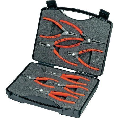 Zestaw szczypiec do pierścieni segera 00 21 25, 12-25 mm, 19-60 mm, 10-25 mm, 19-60 mm, do pierścienia zewnętrznego i wewnętrznego marki Knipex