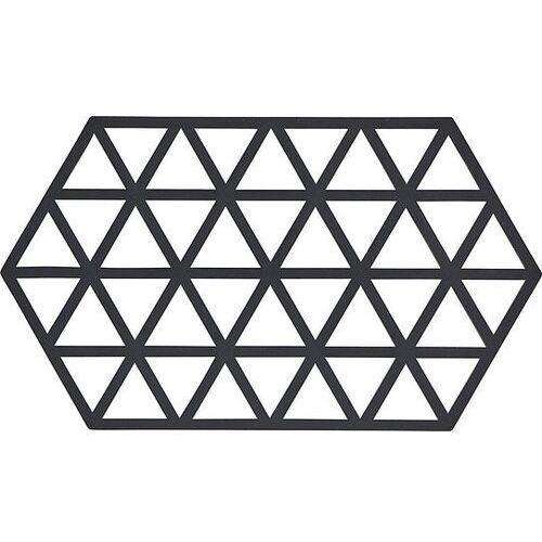 Zone denmark Podstawka pod gorące naczynia triangles 24 cm czarna (5708760657223)