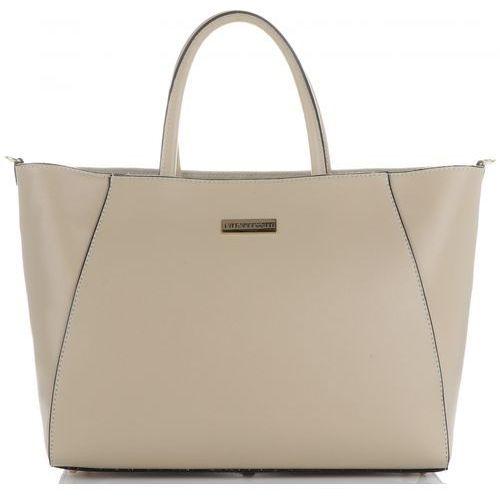 a79bb8fc6061d Vittoria gotti Klasyczne i eleganckie torebki skórzane kuferki xxl marki  beżowe (kolory)