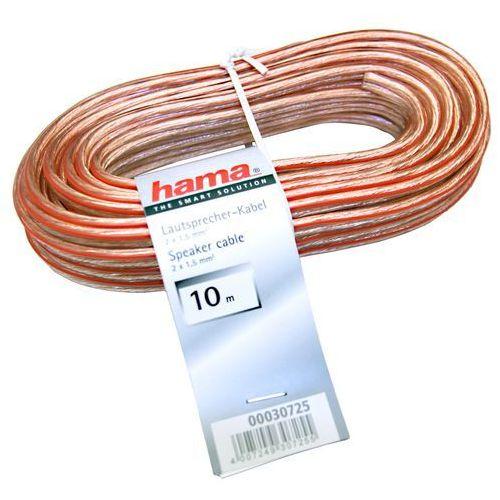 Przewód Hama Kabel głośnikowy 2x1.5 10m ( 307250000 ) Szybka dostawa! Darmowy odbiór w 21 miastach! (4007249307255)