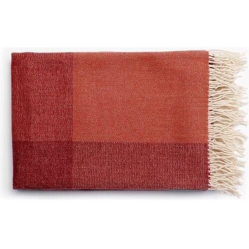 Tre Pled blend throw czerwono-biały
