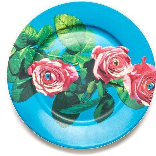 Talerz wears toiletpaper porcelanowy roses marki Seletti