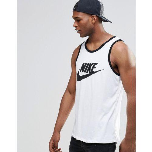Nike Ace-Logo Vest In White 779234-100 - White - produkt z kategorii- Pozostałe