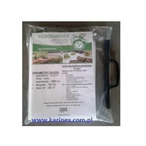 Agrowłóknina wiosenna PP 23 g/m2 biała 3,2 x 10 mb., Agrowłóknina wiosenna PP 23/320/10 paczka