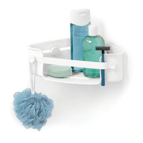 Półeczka pod prysznic narożna flex gel-lock biała marki Umbra