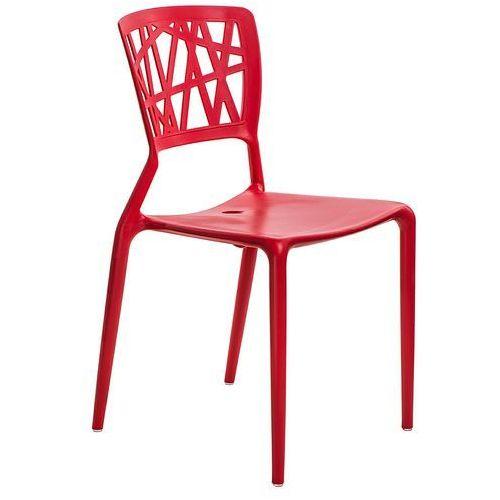 D2.design Krzesło bush inspirowane viento chair - czerwony (5902385708067)