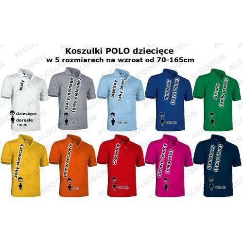 Dziecięca koszulka polo mundurek szkolny 100% bawełna 4-5-wzrost-116-134-cm bialy