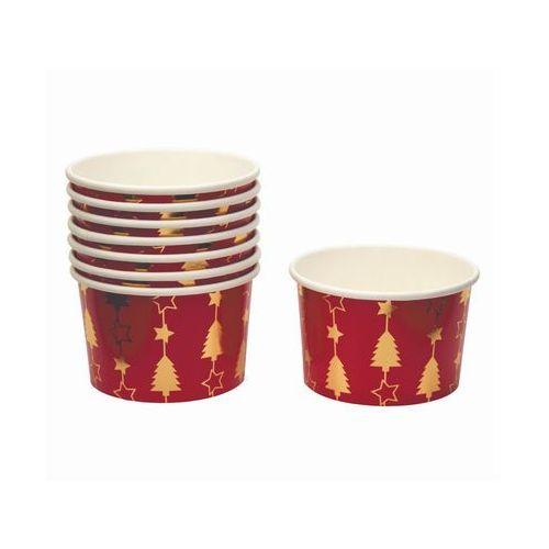 Neviti Pucharki kubeczki do lodów bożonarodzeniowe choinka - 8 szt.