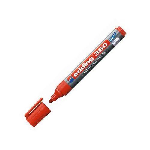 marker do tablic suchościeralnych 360, okrągła końcówka, czerwony marki Edding