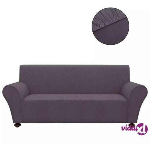 Vidaxl elastyczny pokrowiec na sofę, z dżerseju, szary